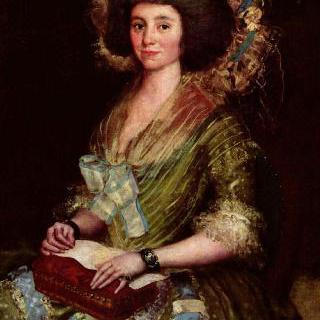 후안 아우구스틴 세안 베르무데스의 부인의 초상