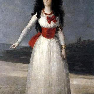 알바 공작부인, 마리아 테레사 카예타나 데 실바의 초상