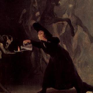 오수나 공작의 팔라시오 데 라 알라메다를 위한 마술 그림들 : 악마의 등불
