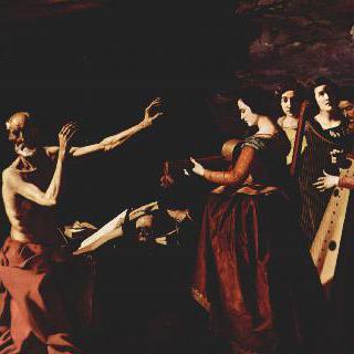 과달루페에 있는 히에로니무스회 수도원의 연작그림들 : 성 히에로니무스의 유혹