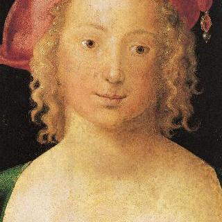 챙 없는 빨간 모자를 쓴 젊은 처녀의 초상