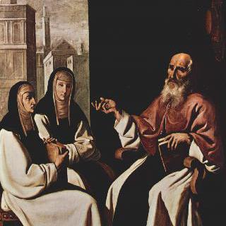 성 히에로니무스와 성 파울라 로마나 및 그녀의 딸 성 유스토키움