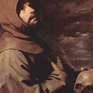 해골을 들고 명상하는 성 프란체스코
