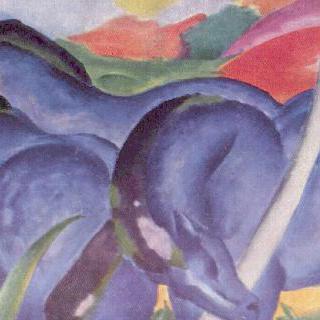커다란 푸른 말들