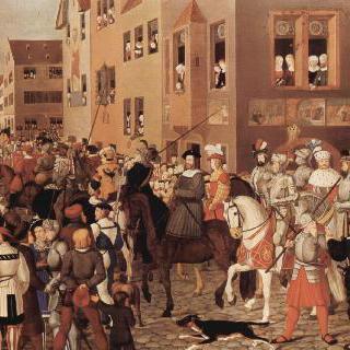 1273년, 바젤에 입성하는 합스부르크의 루돌프 황제