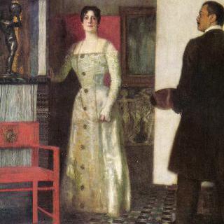 작업실에 있는 화가와 부인의 자화상