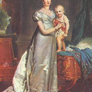 마리 루이즈와 로마 왕의 초상