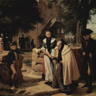 교회에 가는 브라운슈바이크의 농부들