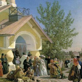 프스코프의 교회 출구