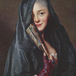 베일을 쓴 숙녀 (마리-쉬잔느 로슬린의 초상)
