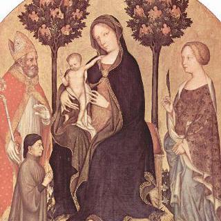 성모와 미라의 성 니콜라우스, 알렉산드리아의 성 카타리나 및 기부자