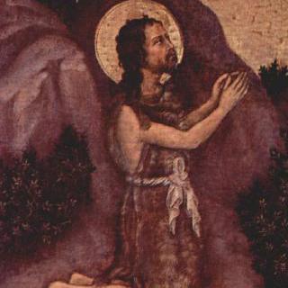 마리아의 대관식, 벽공벽 그림, 왼쪽 바깥 패널 : 성 세례 요한