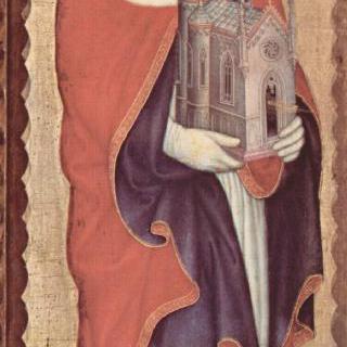 마리아의 대관식, 왼쪽 바깥 날개 : 성 히에로니무스