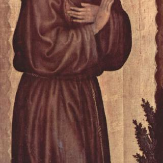 마리아의 대관식, 왼쪽 안쪽 날개 : 성 프란체스코