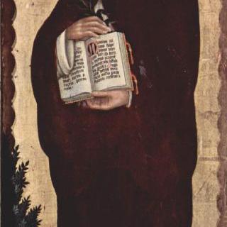 마리아의 대관식, 오른쪽 안쪽 날개 : 성 도미니쿠스