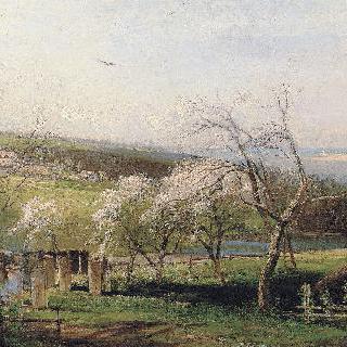 봄, 마을풍경