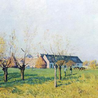 외진 시골의 농장
