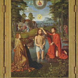 그리스도의 세례, 기부자들과 그들의 수호성인들이 함께 그려진 (장 데 트롱프의 제단화)