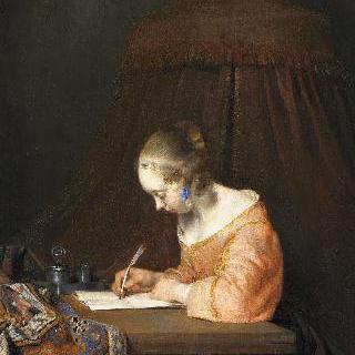 편지 쓰는 여인