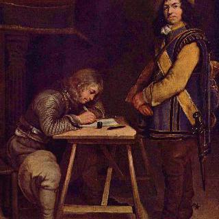 편지를 쓰는 장교