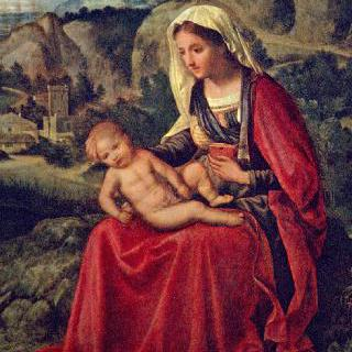 풍경 속의 마리아와 아기 예수