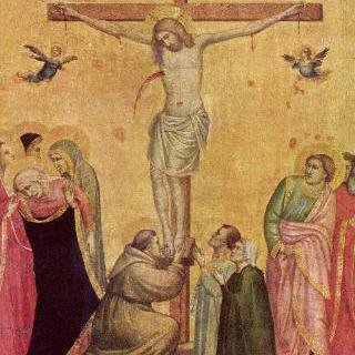 마리아와 요한 사이에서 십자가에 못 박힌 그리스도