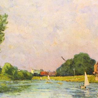 햄프턴 궁전 옆의 템스 강