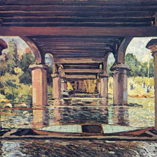 햄프턴 궁전의 다리 밑