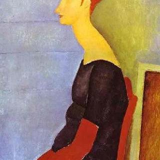 어두운 색 옷을 입은 잔 에뷔테른의 초상