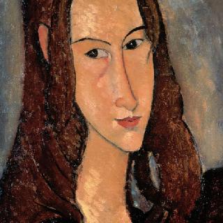 잔 에뷔테른의 초상 (얼굴 옆모습)