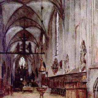 베를린의 오래된 수도원 교회의 성단소