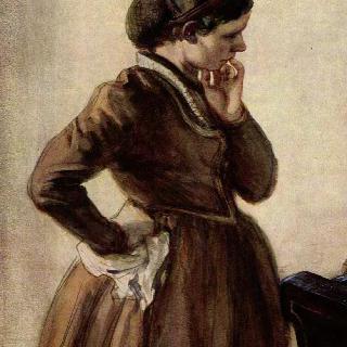피아노 앞에 서 있는 에밀리 멘첼