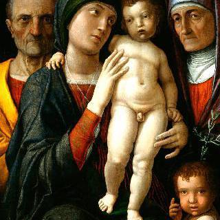 성 엘리사벳, 소년 모습의 세례 요한과 함께 있는 성 가족