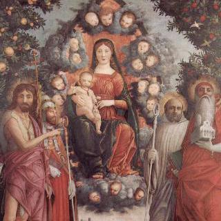 성자들과 함께 있는 성모 : 아기 그리스도, 성자들과 함께 있는 마리아
