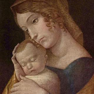 잠자는 아기 예수와 함께 있는 마리아