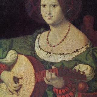 류트를 연주하는 여인