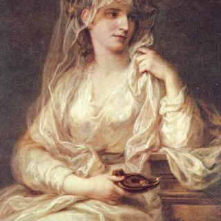 베스타의 여사제 모습을 한 어느 여인의 초상