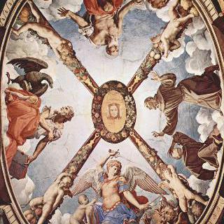 피렌체의 베키오 궁전의 엘레오노라 예배당에 있는 프레스코화, 천장 프레스코화