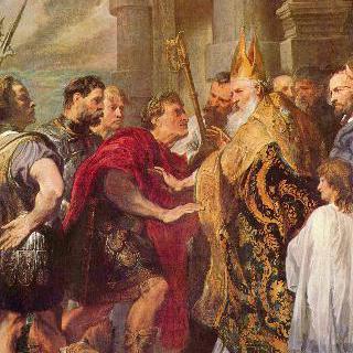 성 암브로시우스와 테오도시우스 황제