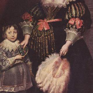 Anoy의 귀족부인 Charlotte Butkens와 아들의 초상