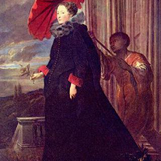 니콜라 카타네오 후작의 부인, 엘레나 그리말디의 초상