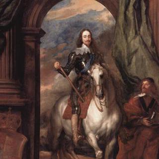 말을 탄 채 마구간 감독과 함께 있는 영국왕 찰스 1세의 초상