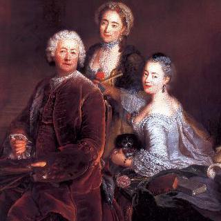이젤 앞에 앉은 화가와 그의 두 딸의 초상