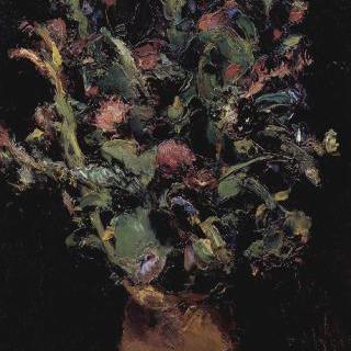 참제비고깔 꽃이 있는 정물