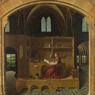 연구실에 있는 성 히에로니무스