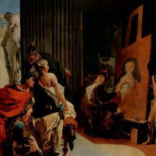 아펠레스의 화실에 있는 알렉산드로스 대왕과 캄파스페