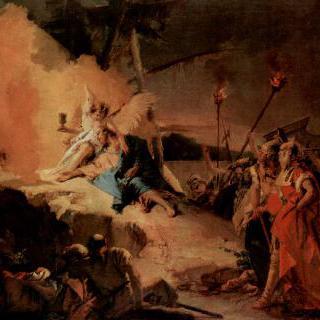 감람산의 그리스도와 성배 (고통의 운명)를 든 천사