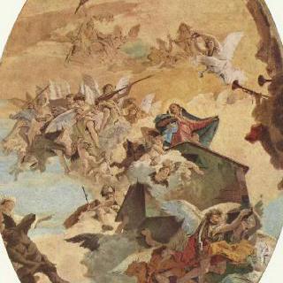 로레토로 옮겨지는 나사렛의 성가 (聖家)