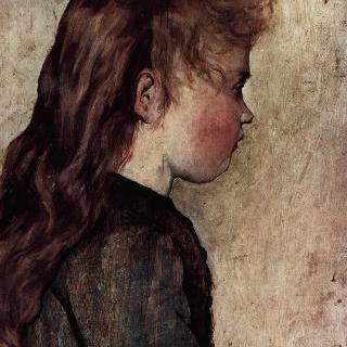 시골처녀의 옆얼굴 초상
