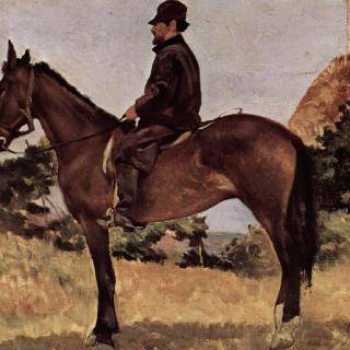 말 타는 남자